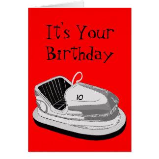 Dodgem Age Birthday Card (Red)
