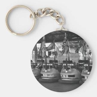 Dodgem Cars at a Funfair Key Chain