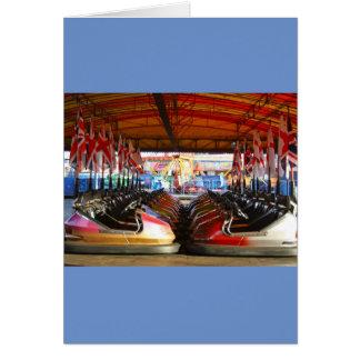 Dodgem Cars at  Funfair Card