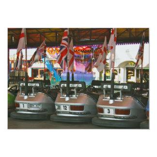Dodgem Cars  Funfair Ride Invitation