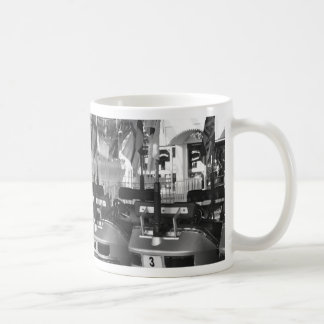 Dodgem Cars in Black and White Mug