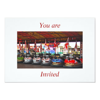 Dodgem Cars You are invited Card