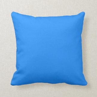 Dodger Blue Throw Pillow
