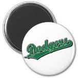 Dodgers in Green Refrigerator Magnets
