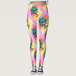 DODO ALIEN MONSTER CARTOON  LEGGINS LEGGINGS