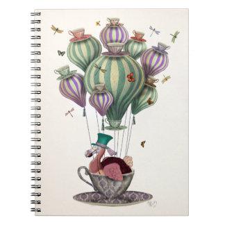 Dodo Balloon with Dragonflies Notebook