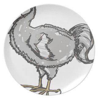 Dodo Bird Melamine Plate