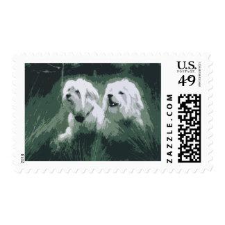 dodo dog cartoon merchandise stamp