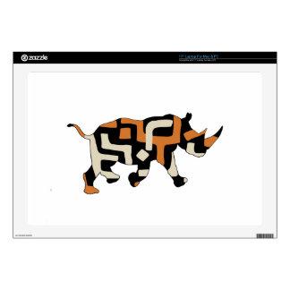 "Dodo Duds (Endangered Species) Black Rhino 17"" Laptop Decal"