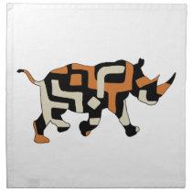 Dodo Duds (Endangered Species) Black Rhino Cloth Napkin