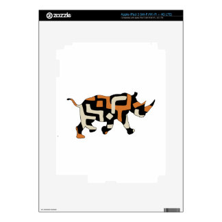 Dodo Duds (Endangered Species) Black Rhino Decal For iPad 3