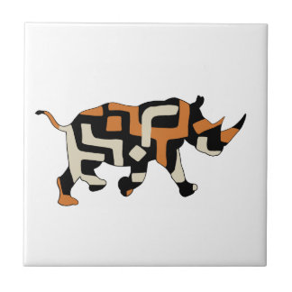 Dodo Duds (Endangered Species) Black Rhino Small Square Tile
