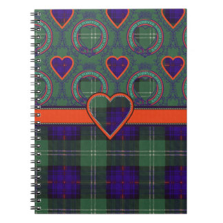 Dods clan Plaid Scottish kilt tartan Notebook