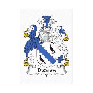 Dodson Family Crest Gallery Wrap Canvas