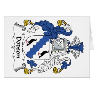 Dodson Family Crest Card