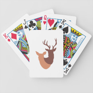 DOE AND BUCK DEER BICYCLE PLAYING CARDS