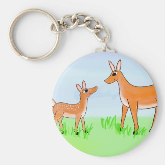 Doe and Fawn Keychain
