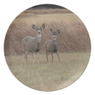 Doe and Fawn Plate