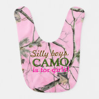 Doe Camo Baby Girl Bib