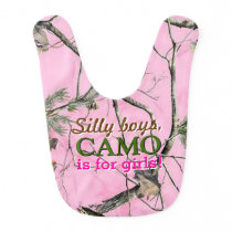 Doe Camo Baby Girl Bib