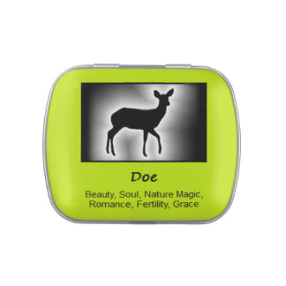 Doe Deer Animal Spirit Meaning Collectible Jelly Belly Candy Tins