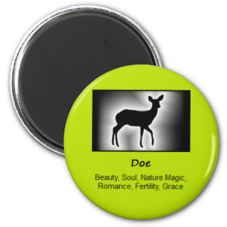Doe Deer Totem Animal Spirit Meaning 2 Inch Round Magnet
