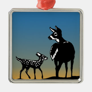 Doe - Fawn Twilight Logo Metal Ornament