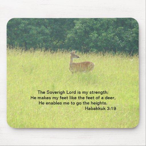 Doe: Habakkuk 3:19 Mousepads