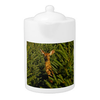 Doe in Pine Trees Teapot