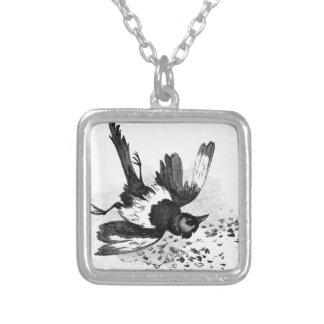 Doed Fugl by Theodor Severin Kittelsen Square Pendant Necklace