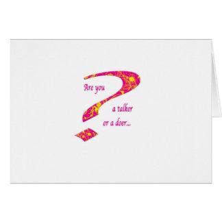 doer or talker question Pink Card