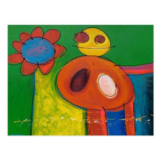 'does a flower have a soul ?' postcards