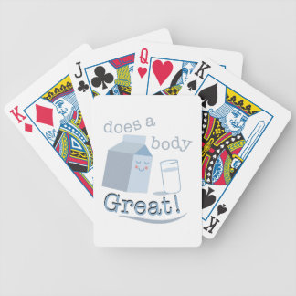 Does Body Great Bicycle Playing Cards