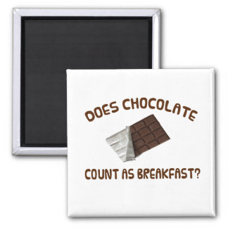 Does Chocolate Count As Breakfast Fridge Magnet