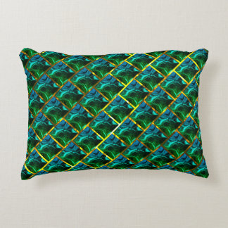 Does green seem emerald, under grating bream? accent pillow