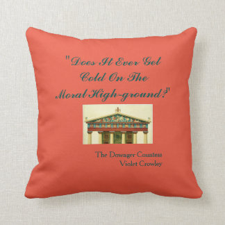 Does it Ever Get Cold on Moral Highground? Pillow