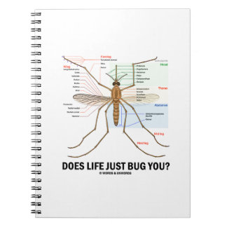 Does Life Just Bug You? (Mosquito Anatomy) Spiral Notebook