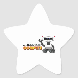 Does Not Compute Star Sticker