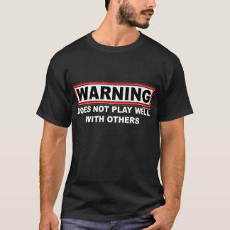 Does not play well...Men's Dark T-Shirts