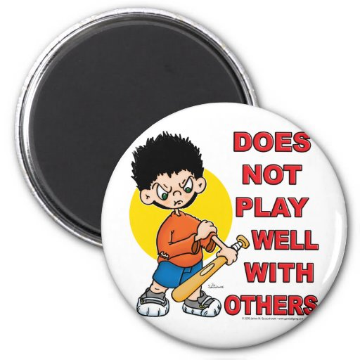 Does not play well with others! 2 inch round magnet