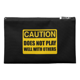 Does Not Play Well With Others Travel Accessory Bag