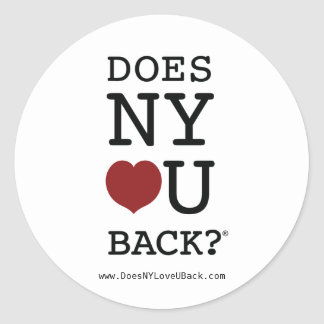 DOES NY [HEART] U BACK?® sticker