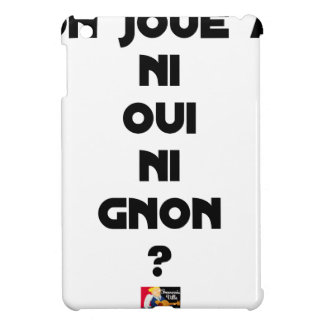 DOES ONE PLAY NEITHER NOR THUMP YES? - Word games Case For The iPad Mini