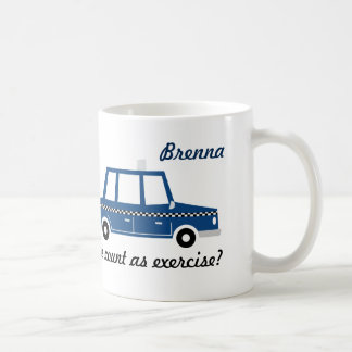 Does running late count as exercise-mug-personaliz coffee mug