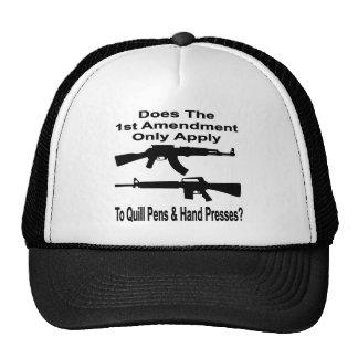 Does The 1st Amendment Only Apply To Quill Pens & Trucker Hat