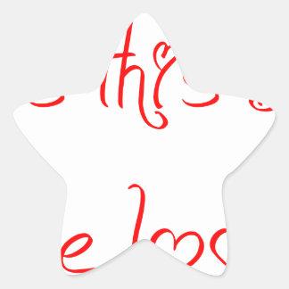 does-this-baby-jell-red.png pegatina en forma de estrella