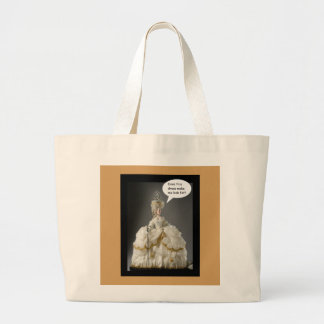 Does this Dress make me look fat? Large Tote Bag