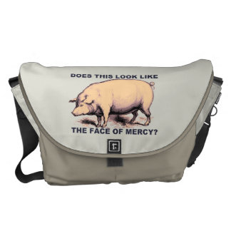 Does This Look Like The Face of Mercy?  Grumpy Pig Courier Bag
