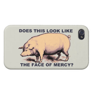 Does This Look Like The Face of Mercy?  Grumpy Pig iPhone 4/4S Cases