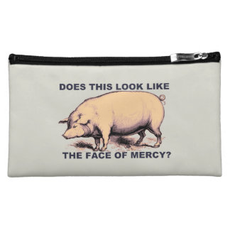Does This Look Like The Face of Mercy?  Grumpy Pig Makeup Bag